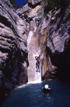 Canyon toboggan Chaudan - 2000 - © Régis Hocdé